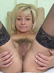 Sexy hairy mature pussy
